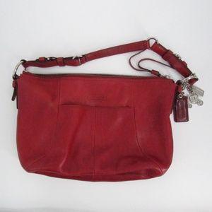 COAH Soho Med Hobo Red Leather Bag #12683